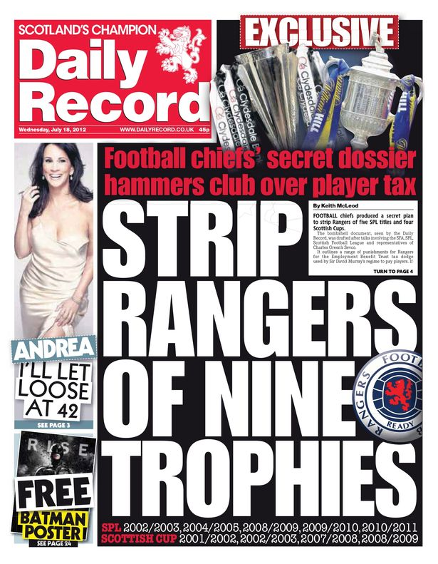 DECLINE & FALL FOR THE RECORD Daily Record
