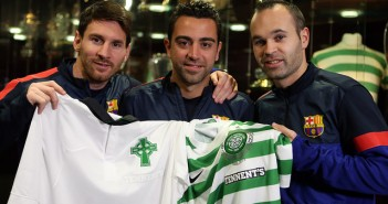 Messi-Xavi-and-Iniesta-with-Celtic-tops-at-CP-Nov-2012